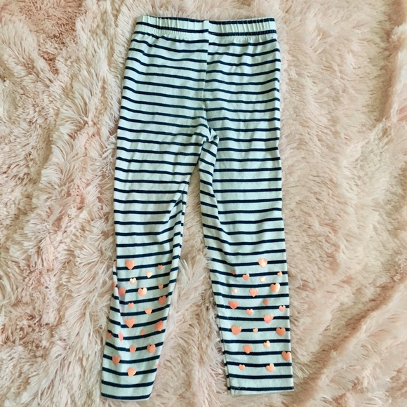 New Carter/'s Red White Gold Striped Glitter Leggings NWT 2T 3T 4T 5T 6 7 8 Girls